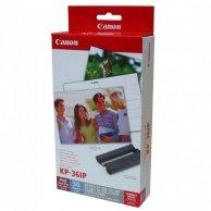 Canon Papier do drukarki termosub., papier, biały, 4x6, 36 szt., KP36IP, termosublimacyjny,+ tusz