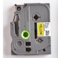 Brother taśma do drukarek etykiet,TZE-611, czarny druk/żółty podkład, laminowane, 8m, 6mm