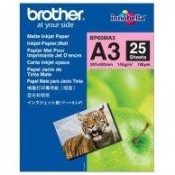 Brother Photo Matt Paper, foto papier, matowy, biały, A3, 145 g/m2, 25 szt., BP60MA3, atrament