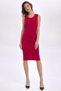 Klasyczna sukienka bez rękawów - czerwony - CS50