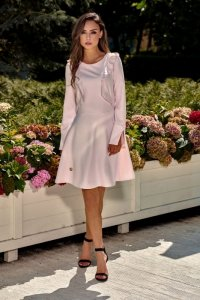 1 Sukienka L271 pudrowy róż PROMO