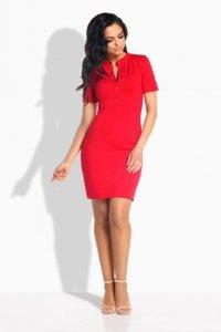 1 L191 Sukienka czerwony PROMO