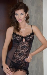 Francesca - black 1783 koszulka i stringi