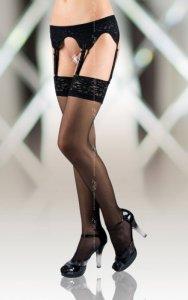 Stockings 5507 - black pończochy do paska
