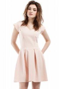 MOE210 sukienka brzoskwiniowa