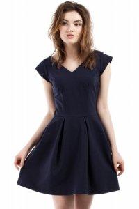 MOE210 sukienka granatowa