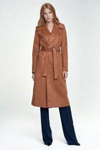 Długi płaszcz - karmel - PL03