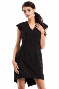 MOE231 Sukienka smokingowa czarna