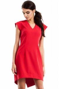 MOE231 Sukienka smokingowa czerwona