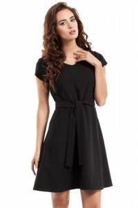 MOE246 Sukienka szmizjerka czarna