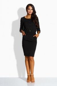L224 Dopasowana sukienka czarny