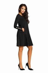 L217 Rozkloszowana sukienka czarny