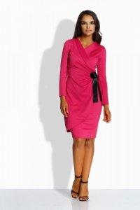 L227 kopertowa sukienka fuksja
