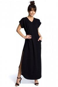 B065 Sukienka maxi czarna