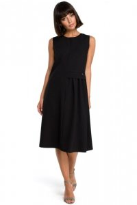 B080 Sukienka midi czarna