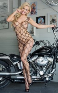 1 She-cat - Black 6254 bodystocking PROMO