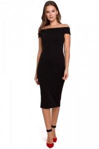 K001 Sukienka dzianinowa - czarna