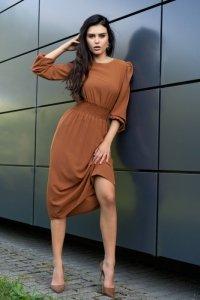 Bouquetina Camel D8 sukienka