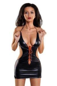 Erotic Wetlook dress with a deep neckline JULIE