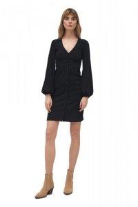 Czarna sukienka z odcięciem pod biustem - S170