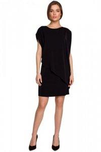 S262 Sukienka warstwowa - czarna