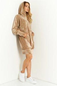Sukienka L402 kamel