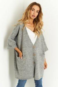Sweter LS342 szary
