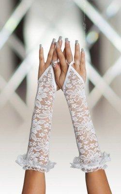 Gloves 7708 - white rękawiczki
