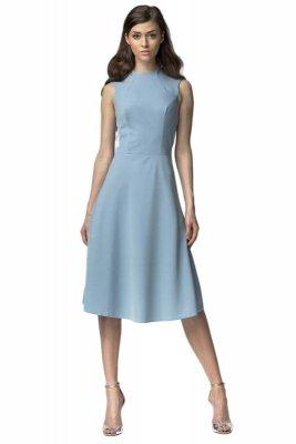Sukienka MIDI - niebieski - S62