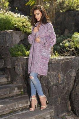 Kolorowy sweter oversize LS206 WZÓR 3