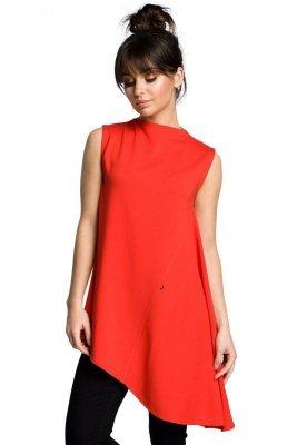 B069 Asymetryczna bluzka czerwona