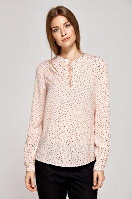 Bluzka z łezką na dekolcie - wzór/róż - CB08
