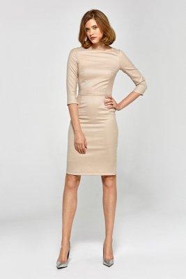 Sukienka cs19 - beż - CS19