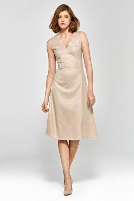 Sukienka cs20 - beż - CS20