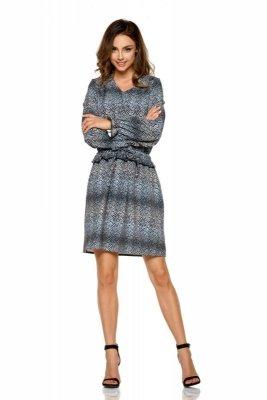 Dziewczęca sukienka we wzory L275 listki
