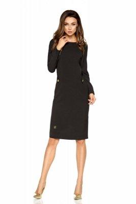 Elegancka sukienka biznesowa L274 czarny