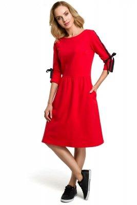 M388 Sukienka - czerwona