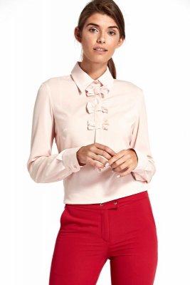 Bluzka z kokardkami - róż - B96