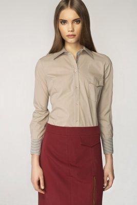 1 Koszula - beż/kratka - K36 PROMO