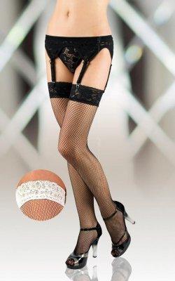 1 Stockings 5516 - white kabaretki PROMO