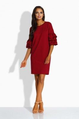 1 Sukienka w stylu hiszpańskim L229 bordo PROMO