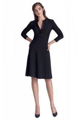 Sukienka zapinana na napy - czarny - S123
