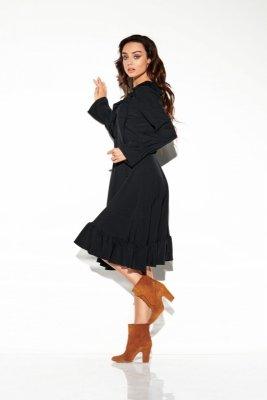 Sukienka ze sznurowanym dekoltem kolor  L313 czarny