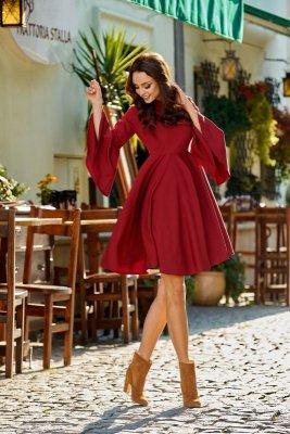 1 Sukienka L277 bordo PROMO
