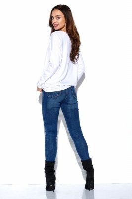 Luźna bluzka basic LN104 biały