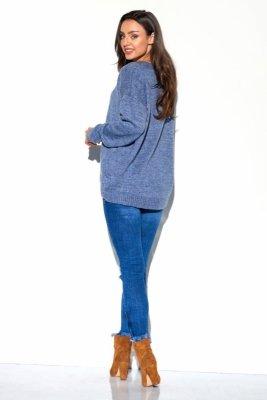 Dłuższy gładki półgolf LS275 jeans