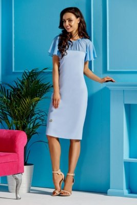 1 Sukienka  L299 błękitny PROMO