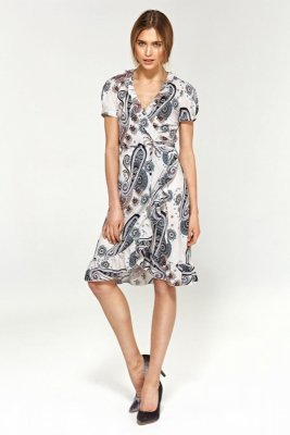 Letnia sukienka z falbanami - wzór - S99