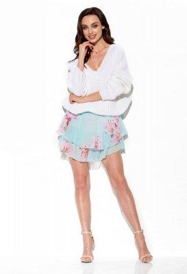Zwiewna spódniczka z jedwabiem LG545 druk 18