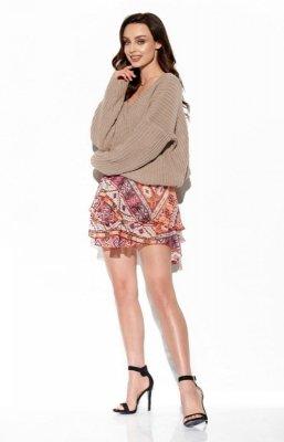 Zwiewna spódniczka z jedwabiem LG545 druk 19